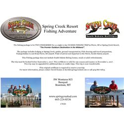 South Dakota Fishing Trip with Spring Creek Outfitters