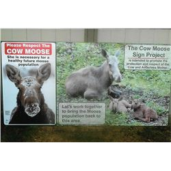 4' x 8' Cow Moose Sign