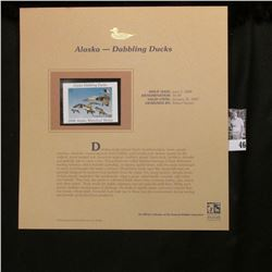 2006 Alaska Waterfowl $5 Stamp depicting Dabbling Ducks, Pristine Mint condition in plastic page wit