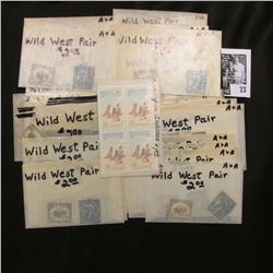 Frederick Remington Block of four 4c Stamps, mint; & (29) Pairs of Wild West Stamps, which 'Doc' pri