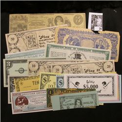 (18) Different Novelty Currency notes.