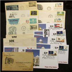(20) Special Cacheted or First Day Covers dating back to 1948.