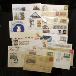 (20) Special Cacheted or First Day Covers dating back to 1922.