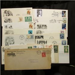 (20) Special Cacheted or First Day Covers dating back to 1911.