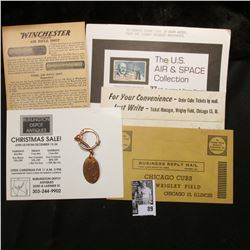 "1960 ""Here are your CUBS tickets"" envelope & a unused Return Envelope from Chicago Cubs Wrigley Fiel"