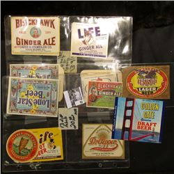 At least (13) Different Beverage and Breweriana Labels from the 1940 era.