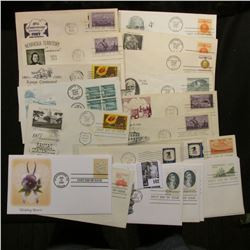 (20) Old First Day Covers dating back to 1953. Includes Mahatma Gandhi and more.