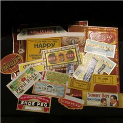 (19) Different Old Cigar Box labels in mint condition.