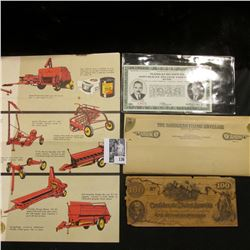"""A Complete Family of New Holland Grassland Machines"" brochure; ""The Bandless Filing Envelope""; $100"