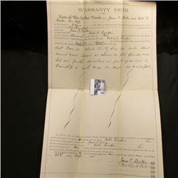 Sept. 21st, 1891 Warranty Deed for land in Howard Co., Missouri.