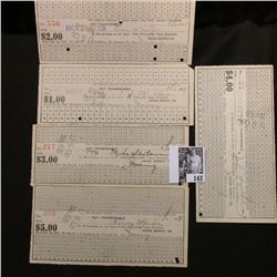 $1, $2, $3, $4, & $5 1917 Scrip from Hostetter, Union Supply Co., Mt. Pleasant, Pa.