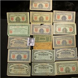 "(17) pieces of Scrip from the ""United Cigar Stores Company of America"" issued during the Depression"