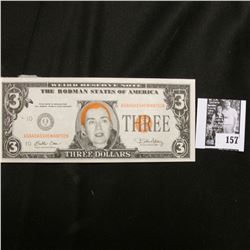 "Booklet of (9) ""Weird Reserve Note(s)"" depicting Hillary Rodman."