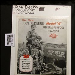 """The New John Deere Model ""A: General Purpose Tractor With Adjustable Tread"" brochure. Includes two"