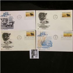 Four-piece set of Agriculture related First Day Covers 1973-74, Mint Condition.