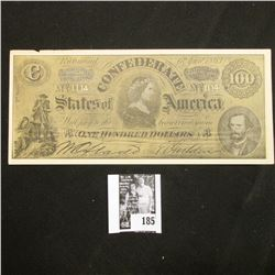 "1863 Confederate States of America Facsimile note with old Advertising ""Go to ROY'S FOR EASY MONEY."