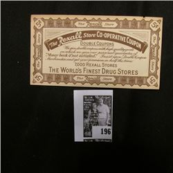 "1915 ""The Rexall Stoe Co-operative Coupon"" 5c Scrip"