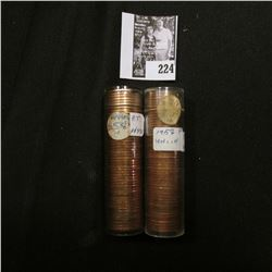 (2) 1958 P Original BU Rolls of Lincoln Cents. Both in plastic tubes.