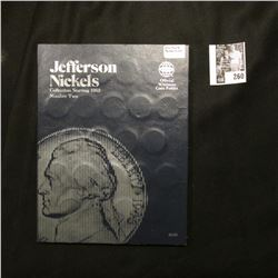 1962-95 Complete Set of Jefferson Nickels in a blue Whitman folder.