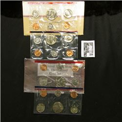 1986 & 1996 U.S. Mint Sets. Original as issued. Total of $3.64 face value.