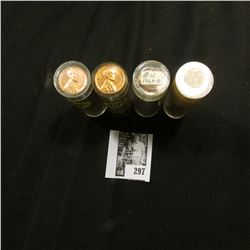 1960D, (2) 63D, & 64D BU Rolls of Lincoln Cents in plastic tubes. A couple of the rolls are short a