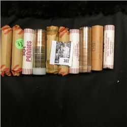 (10) Rolls of various early date Memorial Lincoln Cents. Some BU.