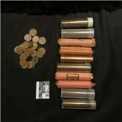 Over (10) Rolls of Wheat Cents including a 1919 S Roll, circ.; & a BU Roll of 1958 P.