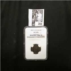 1886 CS Denmark Two Ore NGC slabbed AU 50 BN.