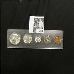 1964 D Silver Gem BU Year Set in a Snaptight case. (5 pc.)