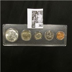 1965 Silver Gem BU Year Set in a Snaptight case. (5 pc.)