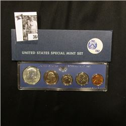 1967 U.S. Special Mint Set. Original as issued.