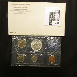 1965 U.S. Special Mint Set. Original as issued in envelope.