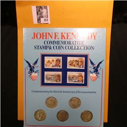 John F. Kennedy Commemorative Stamp and Coin Collection, which includes Silver Half-Dollars from 196