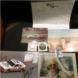 "12/2/87 ""Marcis Auto Racing…Skyland, NC. letter and several Autographed Postcards; Chicago, Milwauke"