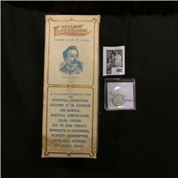 "Original Box with bottle of ""Milks' Emulsion Nature Remedy…a valuable remedy for Dyspepsia, Indigest"