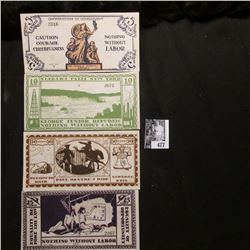 "Four note set of Series of June, 1925 5 Cent, 10 Cent, 25 Cent, & 50 Cent ""The George Junior Republi"