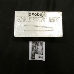 "Aluminum Tin ""Where's My (picture of a hair pin) (then engraved) ""Lake Okoboji"" full of unsorted for"