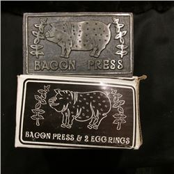 Metal Bacon Press in original box,