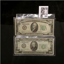 "Series 1934A ""H"" Federal Reserve Bank of St. Louis, Mo. $10 Banknote; & Series 1934 ""H"" Federal Rese"