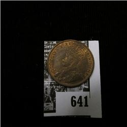 1911 Canada Large Cent, Red-brown Uncirculated.