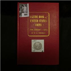 "1911 P U.S. Barber Quarter, VG & and a Mint condition 1963 ""A Guide Book of United States Coins"" 16t"