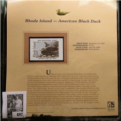 2005 $7.50 Rhode Island Waterfowl Stamp depicting the American Black Duck, Absolute mint condition w