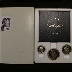 1776-1976 S U.S. Three-Piece Silver Proof Set. Original as issued.