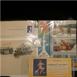 "Several pieces of literature including 1904 World's Fair; Sexy ""Lionberger's Auto Parts"" Ink blotter"