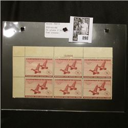 Plateblock of 6 RW 10 1943 Federal Migratory Bird Hunting and Conservation Stamps, 6 Stamps, never h