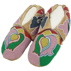 Otoe Beaded Moccasins