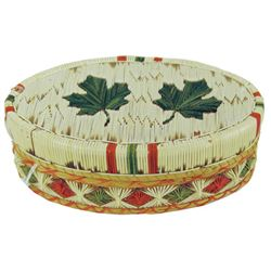Iroquois Quilled Basket