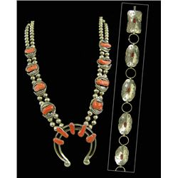 Navajo Necklace & Belt Set