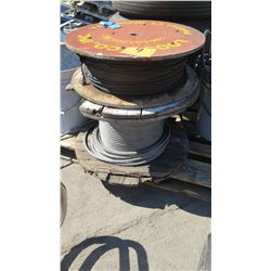 Qty 2 Spools Steel Cable