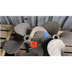 "Qty 2 Bronze Propeller - 32"" Diameter, 2.150"" Shaft"